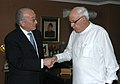 The Executive Director, International Energy Agency, Mr. Nobuo Tanaka calls on the Union Minister of New and Renewable Energy, Dr. Farooq Abdullah, in New Delhi on March 22, 2010.jpg