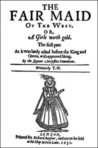The Fair Maid of the West - Title page of The Fair Maid of the West.