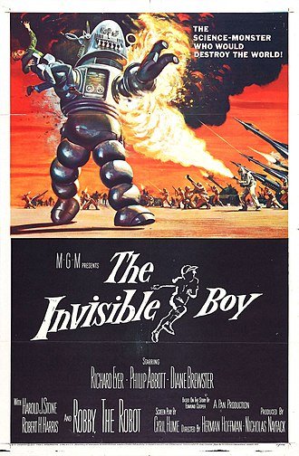 The Invisible Boy - Film poster by Reynold Brown