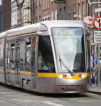 Luas - Luas tram in Dublin City Centre.