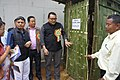 The Member of Manipur Legislative Assembly, Shri Janghemlung Panmei visiting a model sanitary toilet, at the inauguration of the Public Information Campaign on Bharat Nirman at Tamenglong, Manipur on September 11, 2013.jpg