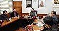 The Minister of State for Minority Affairs (Independent Charge) and Parliamentary Affairs, Shri Mukhtar Abbas Naqvi addressing a press conference, in New Delhi on February 04, 2017 (1).jpg