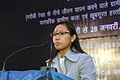 The Minister of State of Rural Development, Ms. Agatha Sangma addressing at the inauguration of the SARAS fair at Dilli Haat (from 19-28 January), in New Delhi on January 19, 2010.jpg