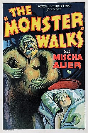 The Monster Walks - Theatrical release poster