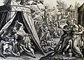 The Phillip Medhurst Picture Torah 584. Whoredom with the daughters of Moab. Numbers cap 25 vv 1-3. De Vos.jpg