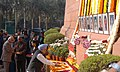 The Prime Minister, Dr. Manmohan Singh paying homage to the martyrs of the Parliament attack, in New Delhi on December 13, 2008.jpg