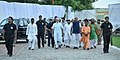 The Prime Minister, Shri Narendra Modi during the foundation stone laying ceremony of the AIIMS Gorakhpur & for the revival of Gorakhpur Fertilizer plant, at Sports Ground, FCI, in Gorakhpur, Uttar Pradesh.jpg