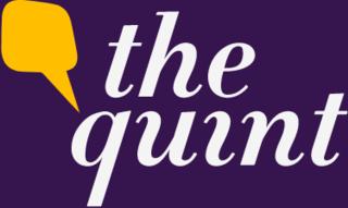 <i>The Quint</i> English and Hindi language Indian news website