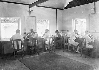 Ceylon in World War II - Image: The Royal Naval School of Malaria and Hygiene Control, Nr Colombo, Ceylon, December 1944 A28167
