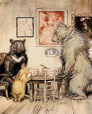 Goldilocks and the Three Bears - Image: The Three Bears Project Gutenberg e Text 17034