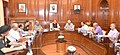 The Union Home Minister, Shri Rajnath Singh chairing a high level meeting to review the developmental projects of Jammu & Kashmir, in New Delhi.jpg