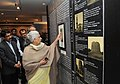 The Union Minister for Culture, Smt. Chandresh Kumari Katoch going round an exhibition 'The World of Khusrau', in New Delhi on February 22, 2013.jpg