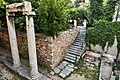 The ancient ruins in the courtyard of the Church of Saint Catherine in Plaka on July 28, 2019.jpg