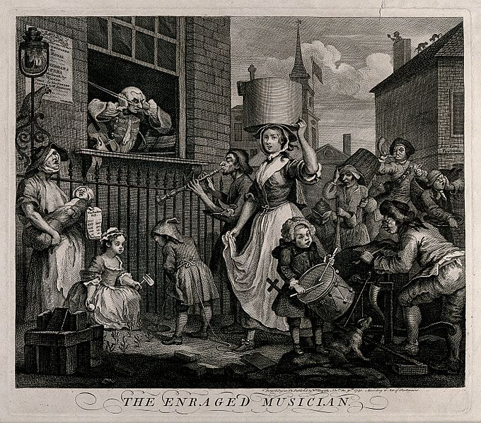 File:The enraged musician; a street crowd with a ballad singer is Wellcome V0049245.jpg