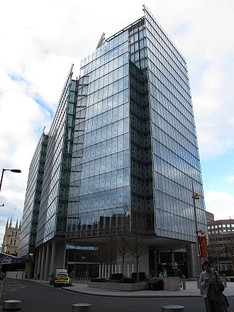 The News Building, HarperCollins's UK headquarters in London The news building SE1.jpg