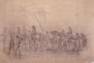Battle of Williamsport - The pursuit of Gen. Lee's rebel army by Edwin Forbes