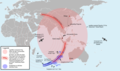 Theoretical Search Area of MH370 v 5.png