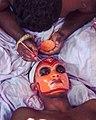 Theyyam makeup in Karivellur.jpg