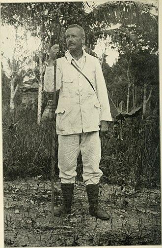 Carl Sofus Lumholtz - Carl Lumholtz in the Bulungan Regency, Dutch Borneo, May 1914.