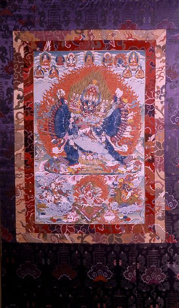 File:Tibetan - Identification Deity Vajrabhairava with Retinue - Walters 35293.jpg