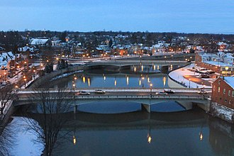 Tiffin, Ohio - A view from the Kiwanis Manor in Tiffin, featuring the Sandusky River