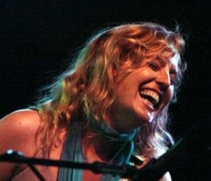 Tift Merritt - Merritt on stage in Silk Hope, NC  in 2007.