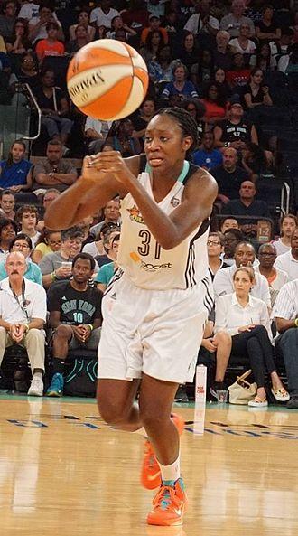 Tina Charles (basketball) - Image: Tina Charles at 2 August 2015 game cropped