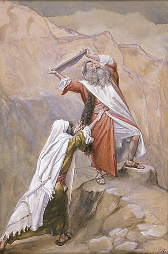 Golden calf - Moses destroying the tables (watercolor circa 1896–1902 by James Tissot)