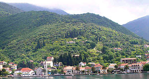 Tivat - Lastva - part of Tivat, from the sea