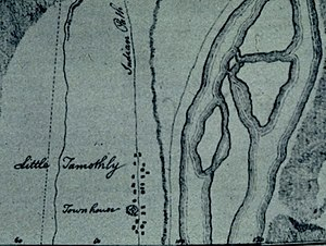 Tomotley - Tomotley, as it appeared on a 1756 map by William de Brahm (the river is on the right)