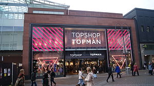 Topman - A flagship Topshop and Topman in Leeds seen shortly after opening in December 2012.