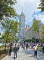Torre Latinoamericana from Alameda Central promenade.jpg