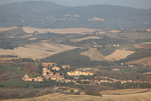 Torrenieri, between Montalcino and San Giovanni d'Asso