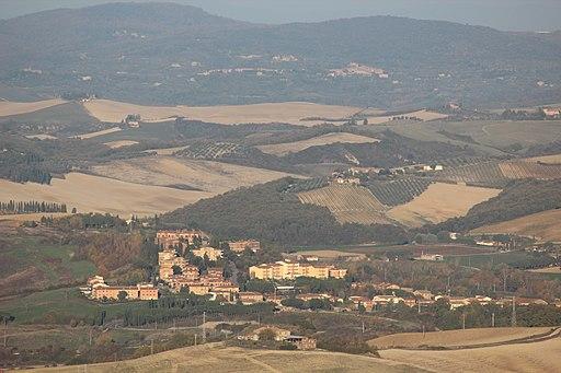 Torrenieri, between Montalcino and San Giovanni d'Asso