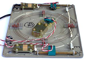 Analog delay line - A magnetostrictive torsion wire delay line.
