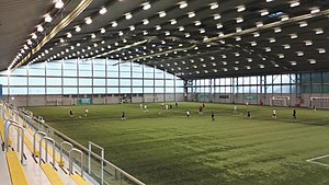 Toryglen Regional Football Centre - Interior pitch during an amateur match