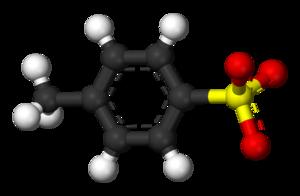 P-Toluenesulfonic acid - Ball-and-stick model of the tosylate anion