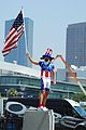 Tour of California, Los Angeles, american flag.JPG