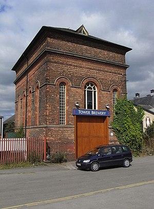 English: Tower Brewery, Burton-on-Trent, near ...