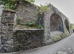 Saint Laurence Gate - Image: Town walls at St Laurence Gate