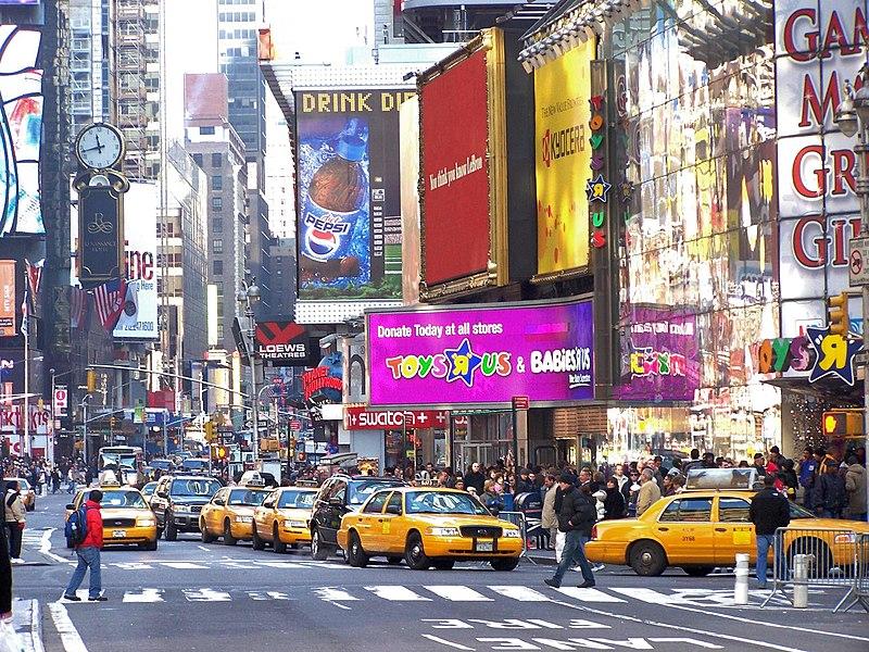 Crowded NYC Street