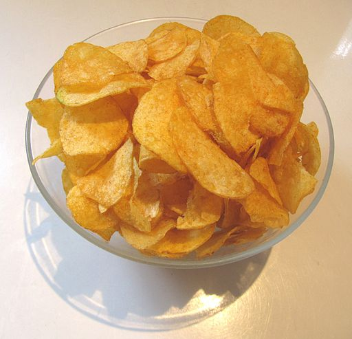 Traditionelle kartoffelchips