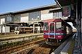 Trains at Mino-ōta Station.jpg