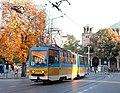 Tram in Sofia near St Nedelya Church 2012 PD 008.jpg
