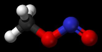 Methyl nitrite - Image: Trans methyl nitrite 3D balls