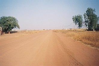 Trans-Gambia Highway - The Trans-Gambia Highway near Farafenni, The Gambia