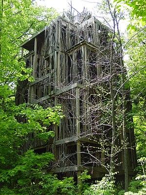 Cayuga Nature Center - The six-story tree house TreeTops