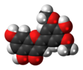 Tricin molecule spacefill.png