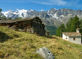 Saas-Grund - Trift alpine settlement