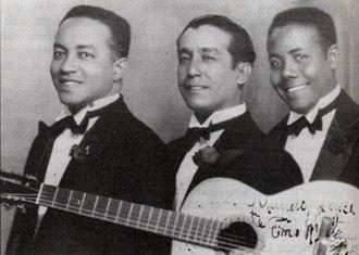 Trio Matamoros - Trío Matamoros, ca. 1930. From left to right: Rafael Cueto, Miguel Matamoros, Siro Rodríguez